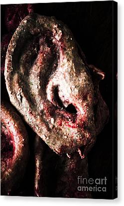 Chopped Canvas Print - Ears And Meat Hooks  by Jorgo Photography - Wall Art Gallery