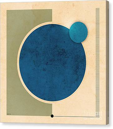 Earth And Moon Graphic Canvas Print by Phil Perkins