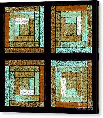 Earth And Sea Quilt Squares Canvas Print