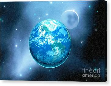 Earth Canvas Print by Corey Ford