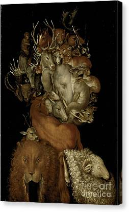 Earth Canvas Print by Giuseppe Arcimboldo
