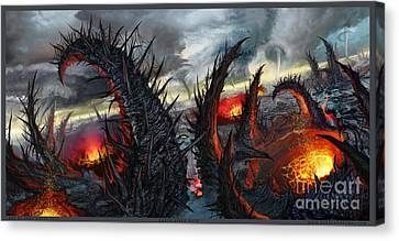 Earth Gives Back Canvas Print by Tony Koehl
