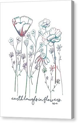 Canvas Print featuring the digital art Earth Laughs In Flowers by Heather Applegate