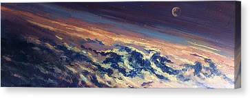 Canvas Print featuring the painting Earth Light Series Lights On  by Len Sodenkamp