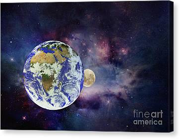 Earth Moon And Beyond By Kaye Menner Canvas Print