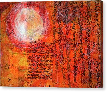 Canvas Print featuring the mixed media Earth Music by Nancy Merkle