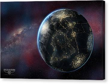 Earth One Day Canvas Print by David Collins