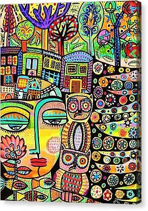 Earth Owl Goddess Canvas Print