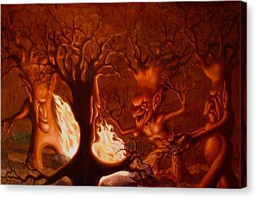 Earth Spirits Canvas Print by Andrew Gardner