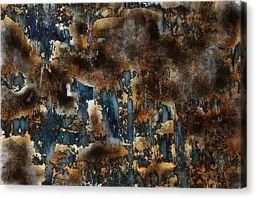 Earth Tone Abstract Canvas Print by Frank Tschakert