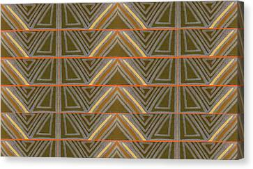 Earth Triangles Canvas Print by Modern Metro Patterns and Textiles
