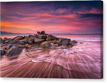 Canvas Print featuring the photograph Earth, Water And Sky by Edward Kreis