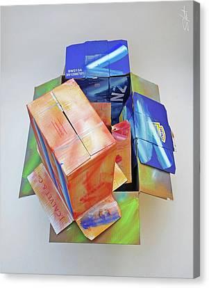 Cardboard Canvas Print - Earthquake 2 by Charles Stuart
