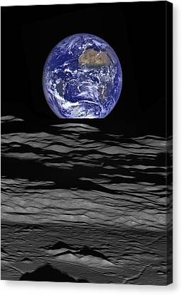 Earthrise Canvas Print by Mark Kiver