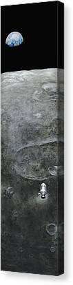 Earthrise  Canvas Print by Simon Kregar