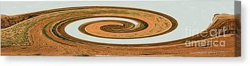 Canvas Print featuring the digital art Earthtones - Modern Contemporary Art by Merton Allen