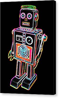 Easel Back Robot Canvas Print by DB Artist