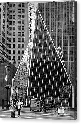 East 42nd Street, New York City  -17663-bw Canvas Print by John Bald
