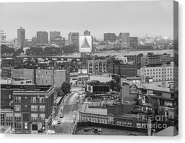 East Cambrdige Boston Skyline Aerial Citgo Sign Photo Canvas Print by Paul Velgos