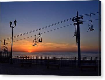 East Coast Sunrise, Seaside Heights Canvas Print by Bob Cuthbert