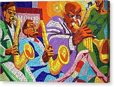 East Eleventh Street Tile Mural Austin Canvas Print by Mark Weaver
