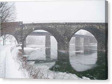 East Falls In Winter Canvas Print