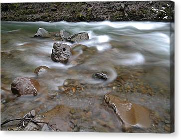 East Fork Of The Hood River Canvas Print by Jeff Swan