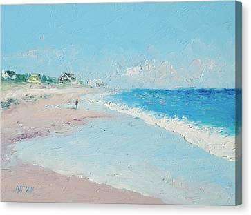 East Hampton Beach Canvas Print by Jan Matson