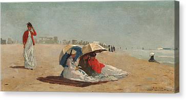 East Hampton Beach Long Island Canvas Print by Winslow Homer