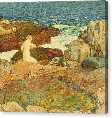East Headland Pool Canvas Print by Childe Hassam