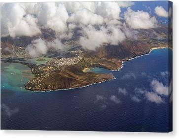 East Oahu From The Air Canvas Print