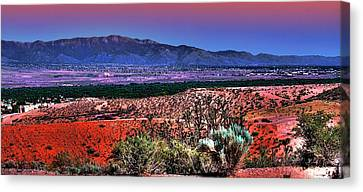 East Of Albuquerque Canvas Print by David Patterson