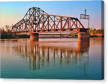 East Omaha Bridge Canvas Print by Nikolyn McDonald
