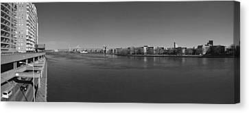 East River Panorama 2 Canvas Print by Robert Ullmann
