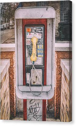 East Side Pay Phone Canvas Print by Scott Norris
