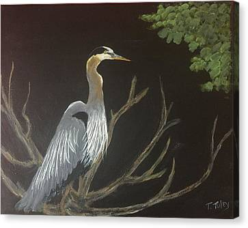 East Tennessee Blue Herron Canvas Print by Terry Tuley
