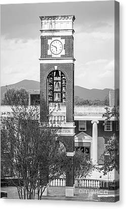 East Tennessee State University Bell Tower Canvas Print by University Icons