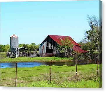 East Texas Barn Canvas Print