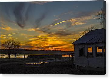 Sunset Canvas Print - East Texas Sunset by Craig David Morrison