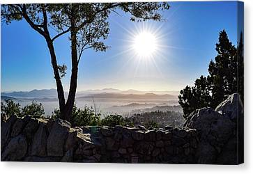 East View At Sunrise From Mt. Helix Canvas Print