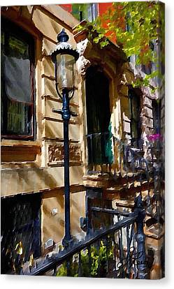 East Village New York Townhouse Canvas Print by Joan Reese