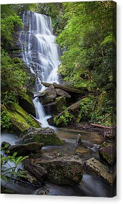 Eastatoe Falls, Downstream Canvas Print