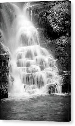 Eastatoe Falls In B/w Canvas Print