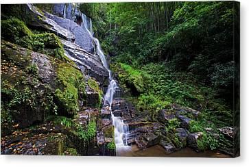 Eastatoe Falls - Waterfalls In North Carolina Photos Canvas Print