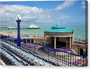 Eastbourne Art Deco Bandstand Canvas Print by Donald Davis