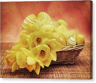 Easter Basket Canvas Print by Wim Lanclus