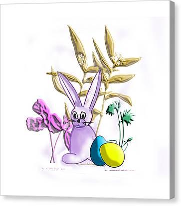 Easter Bunny Canvas Print by Judy Hall-Folde