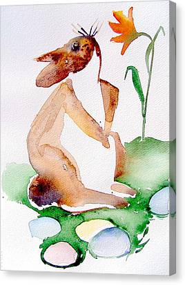 Easter Bunny Canvas Print by Mindy Newman