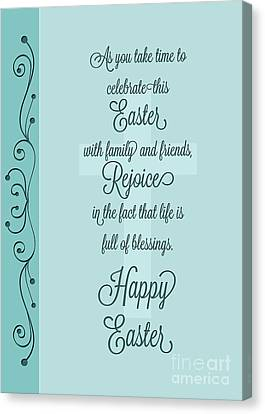 Canvas Print featuring the digital art Easter Celebration by JH Designs