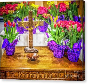 Canvas Print featuring the photograph Easter Flowers by Nick Zelinsky